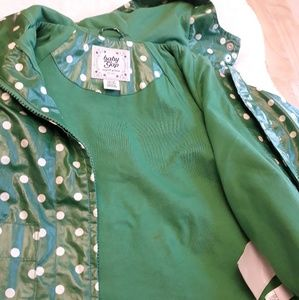 Baby Gap Green polka dot rain jacket Size 18 24 m